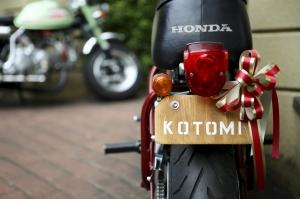 自慢のウェルカムバイクでゲストをお迎え!