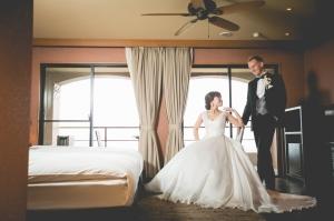 オーベルジュで迎える結婚式の朝