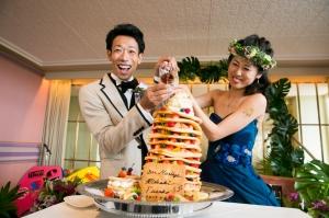 可愛すぎ!パンケーキのウェディングケーキ