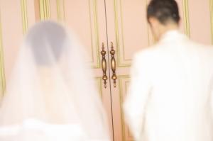 感動のご対面!花嫁と父のファーストミート♡